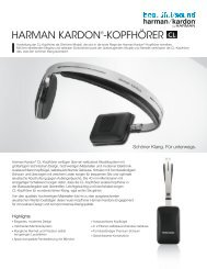 Specification Sheet - CL (German) - Harman Kardon