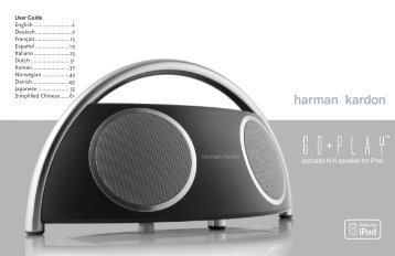 portable hi-fi speaker for iPod - Harman Kardon