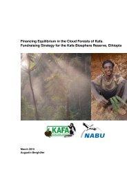 Fundraising Strategy for the Kafa Biosphere Reserve - Nabu