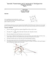 Geometric Transformations with an Introduction to Techniques from ...