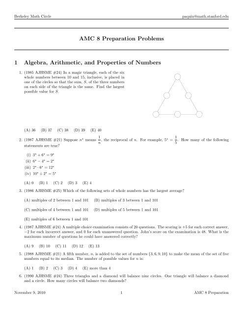 Berkeley Math Circle paqu