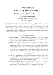 Plane Geometry - Berkeley Math Circle