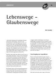 Lebenswege - Glaubenswege - Wörnersberger Anker