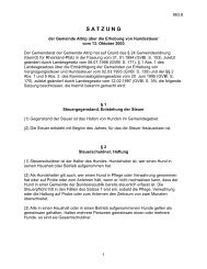 Satzung der Gemeinde Altrip über die Erhebung von Hundesteuer ...