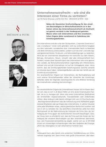 JURAcon Jahrbuch 2008/2009, 116 ff. - Strafverteidiger Rainer ...