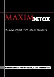 MAXIM detoX reAder Is