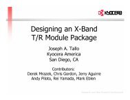 Designing an X-Band T/R Module Package