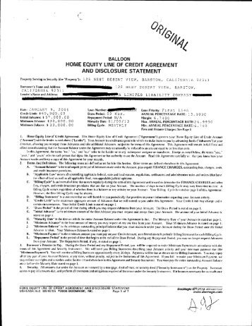 Home Equity Line Of Credit Loan Agreement And Liberty Online