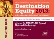 Destination Equity 2013: - College Board