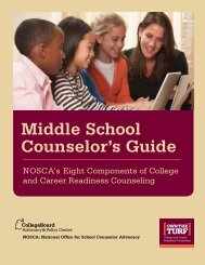 Middle School Counselor's Guide - College Board Advocacy ...