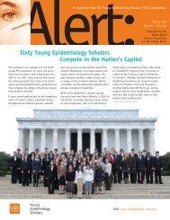 A newsletter from the Young Epidemiology Scholars - College Board