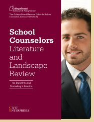 School Counselors Literature and Landscape Review