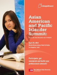 Asian American and Pacific Islander Summit: - College Board