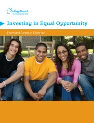 Investing in Equal Opportunity - College Board