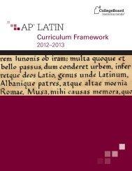 AP Latin: Curriculum Framework - College Board