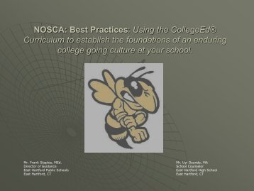 NOSCA: Best Practices: Using the CollegeEd ... - College Board