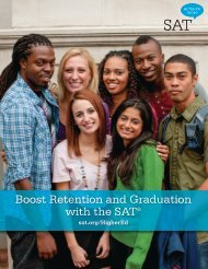 Boost Retention and Graduation with the SAT® - College Board