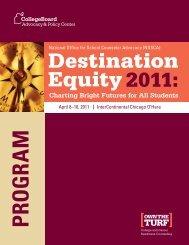 Destination Equity 2011 - College Board