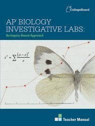 AP Biology Investigative Labs: An Inquiry-Based ... - College Board