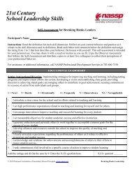 The 21st Century School Administrator Skills Self ... - College Board