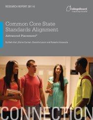 Common Core State Standards Alignment - College Board