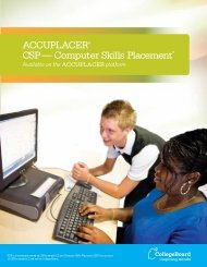 ACCUPLACER® CSP — Computer Skills Placement* - College Board
