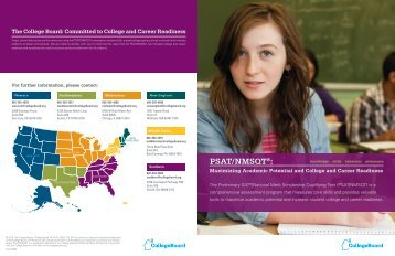 PSAT/NMSQT®: - College Board