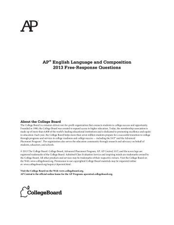 ap english language and composition synthesis essay