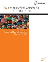 AP Course and Exam Description - College Board