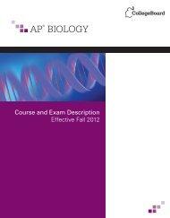 AP Biology Course and Exam Description - College Board