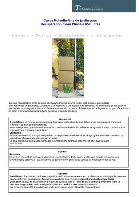 Cuves Polyethylene De Jardin Pour Recuperation D Eau Carrefour Fr