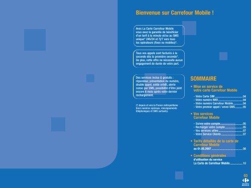 Carte Carrefour Prepayee.Bienvenue Sur Carrefour Mobile Sommaire Carrefour Fr
