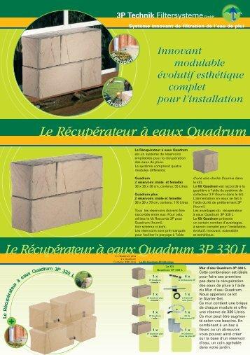 3P Quadrum-Water-Wall Le Récupérateur à eaux ... - Auchan