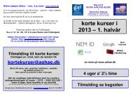 korte kurser i 2013 – 1. halvår - Ældre Hjælper Ældre