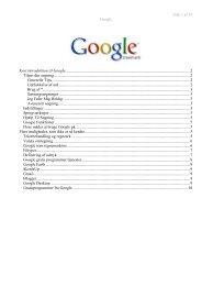Side 1 af 10 Google Kort introduktion til Google ...
