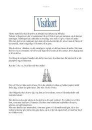 Link til vejledning om visitkort