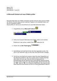 In Microsoft Outlook auf neue E-Mails prüfen - aktionbildung