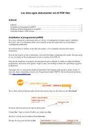 Lav dine egne dokumenter om til PDF-filer