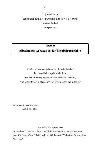 selbständiges Arbeiten an der Tischbohrmaschine. - aktionbildung
