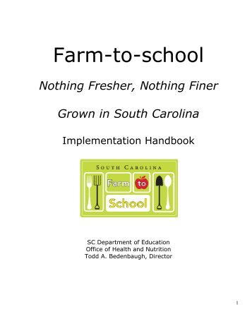 Farm to School Implementation Handbook - South Carolina ...