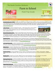 Midlands Field Trip Guide - South Carolina Department of Agriculture