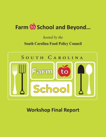 Farm to School and Beyond… - South Carolina Department of ...