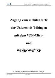 Zugang zum mobilen Netz der Universität Tübingen mit dem VPN ...