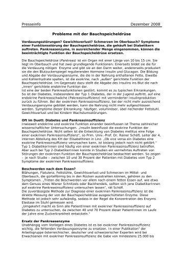 Presseinfo Dezember 2008 Probleme mit der ... - Hennrich.PR