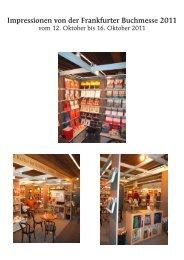 Impressionen von der Frankfurter Buchmesse 2011