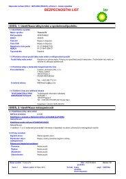 BEZPEČNOSTNÍ LIST - BP - PDS & MSDS Search