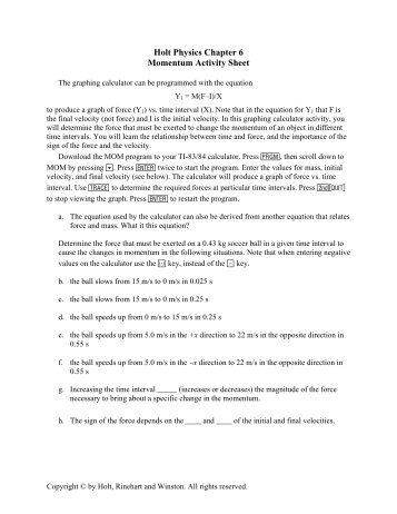 Holt Physics Worksheets Free Worksheets Library | Download and ...
