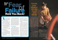 Don't Let Fear of Failure Hold You Back