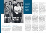 Future Fertility Is a Teen Issue Future Fertility Is a Teen Issue