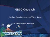 GNSO Outreach - Costa Rica